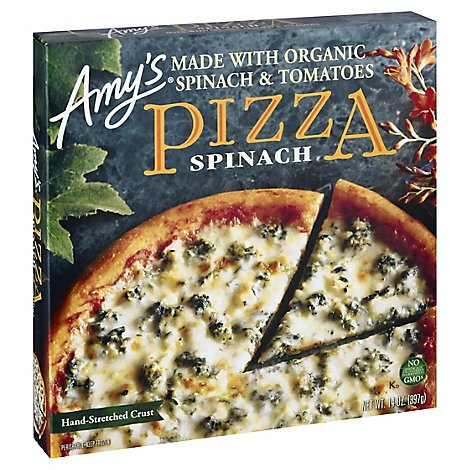 Amys Pizza Spinach Frozen - 14 Oz