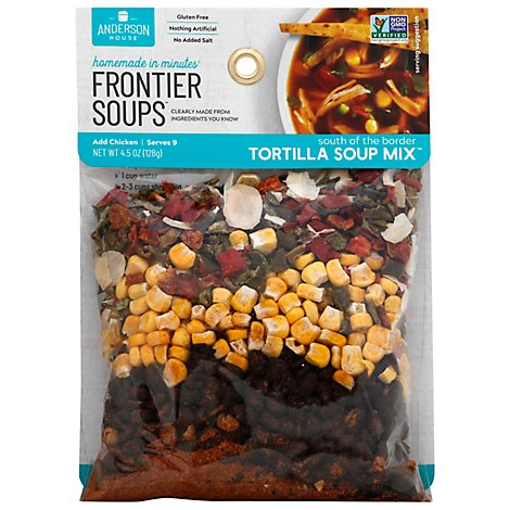 Frontier Soups Soup Mix Homemade In Minutes Gluten Free South of the Border Tortilla - 4.5 Oz