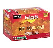 Folgers Gourmet Selections Coffee K-Cup Pods Medium-Dark Roast Colombian - 12-0.31 Oz