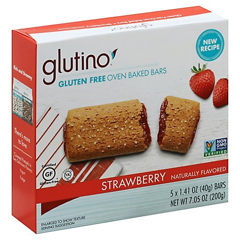 Glutino Breakfast Bars Strawberry Gluten Free - 7.1 Oz
