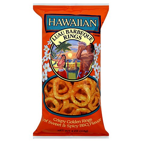 Hawaiian Snack Rings Luau Barbeque - 4 Oz