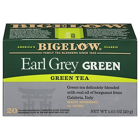 Bigelow Green Tea Earl Grey - 20 Count