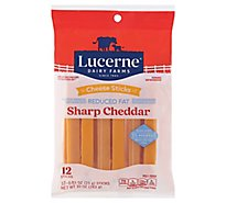 Lucerne Cheese Sticks Sharp Cheddar Reduced Fat - 12-0.83 Oz