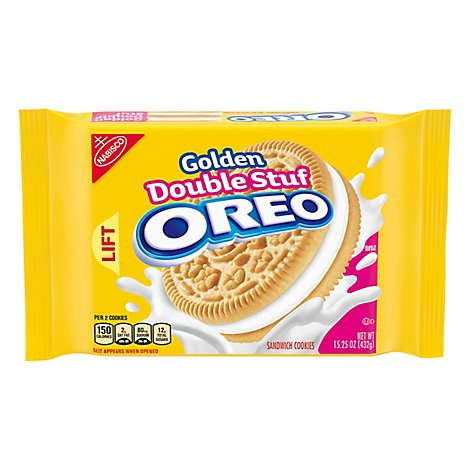 OREO Double Stuff Cookies Sandwich Golden - 15.25 Oz