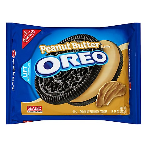 OREO Cookies Sandwich Chocolate Peanut Butter Creme - 15.25 Oz
