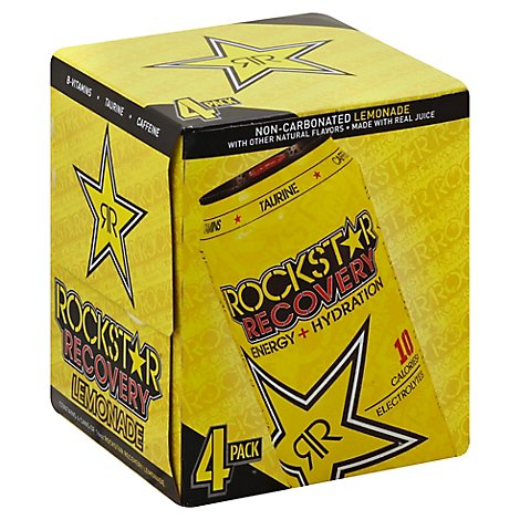 Rockstar Energy Drink Recovery Lemonade Energy/Hydration - 4-16 Fl. Oz.
