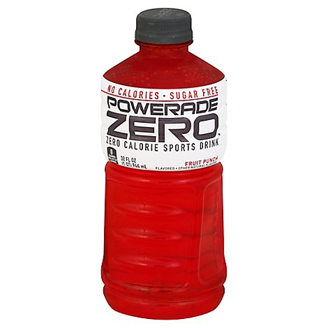 POWERADE Sports Drink Electrolyte Enhanced Zero Sugar Fruit Punch - 32 Fl. Oz.