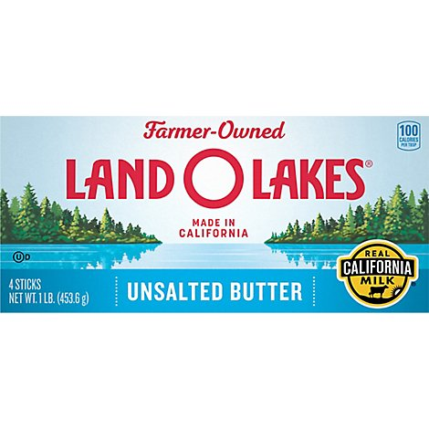 Land O Lakes Butter Stick Unsalted Western Style - 1 Lb