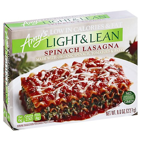 Amys Light & Lean Lasagna Spinach - 8 Oz