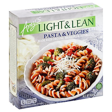 Amys Light & Lean Pasta Veggies - 8 Oz