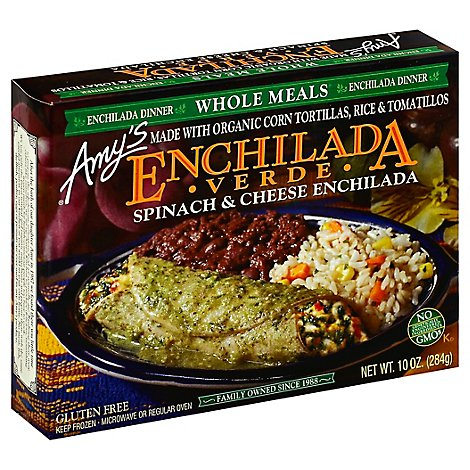 Amys Enchilada Verde Spinach & Cheese - 10 Oz