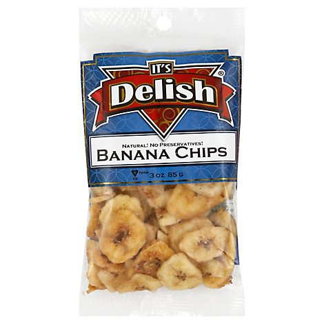 Its Delish Banana Chips - 3 Oz