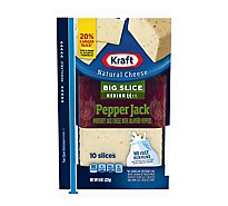 Kraft Cheese Natural Slices Big Slice Pepper Jack - 8 Oz
