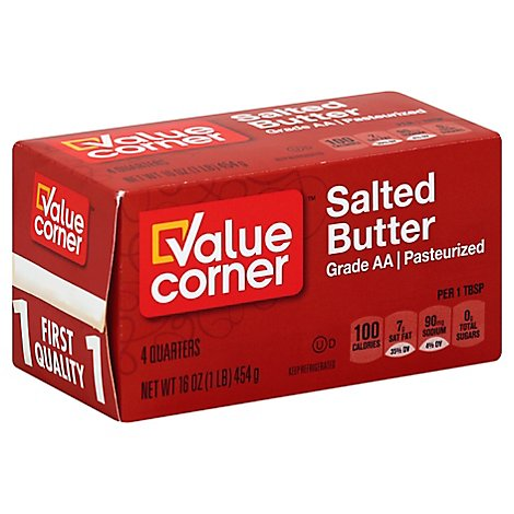 Value Corner Butter Pasteurized - 16 Oz