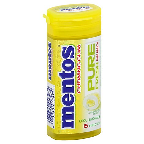 Mentos Pure Fresh Chewing Gum Sugarfree Spearmint - 15 Count