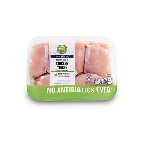 Open Nature Boneless Skinless Chicken Thighs - 1.5 Lbs.