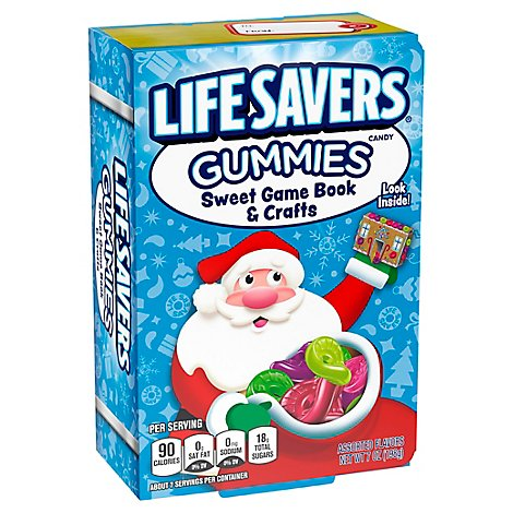 Life Savers Gummies Sweet Game Holiday Book & Crafts - 7 Oz