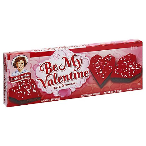 Little Debbie Brownies Iced Be My Valentines - 8 Oz