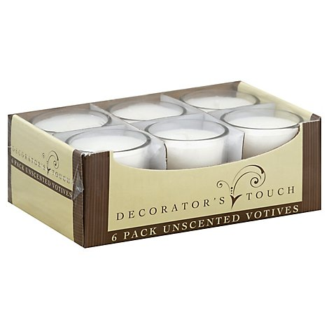 Decorators Touch Shotglass Votives Candle - 6 Count