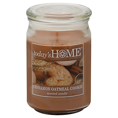 Todays Home Candle Cinnamon Oatmeal Cookie - 16 Oz