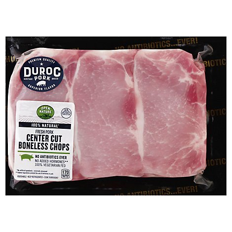 Open Nature Pork Loin Top Loin Chop Boneless Tenderized Extreme Value Pack - 8 LB