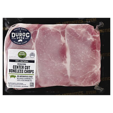 Open Nature Pork Loin Top Loin Chop Boneless - 1.00 LB