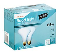 Signature SELECT Light Bulb Indoor Flood Light Soft White 65W 610 Lumens - 2 Count