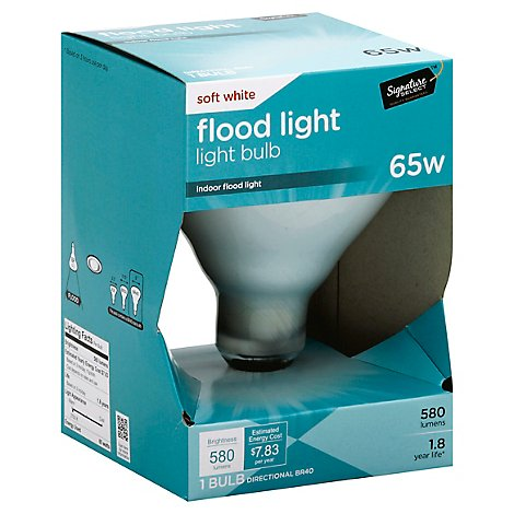 Signature SELECT Light Bulb Indoor Flood Light Soft White 65W 580 Lumens - Each