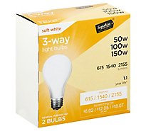 Signature SELECT Light Bulb 3 Way Soft White 50W 100W 150W - 2 Count