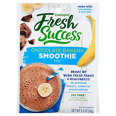 Concord Foods Smoothie Mix Chocolate Banana - 1.3 Oz