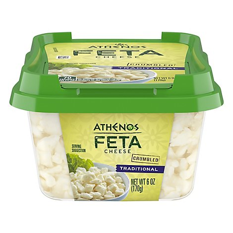 Athenos Crumbled Feta Cheese Traditional - 6 Oz.