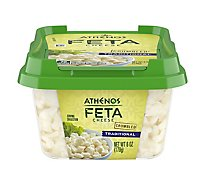 Athenos Cheese Feta Crumbled Traditional - 6 Oz