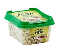 Athenos Cheese Feta Crumbled Garlic & Herb - 6 Oz