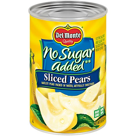 Del Monte Pears Sliced Northwest No Sugar Added - 14.5 Oz