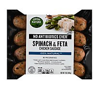 Open Nature Sausage Chicken Spinach & Feta - 12 Oz