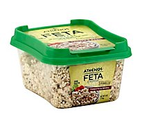 Athenos Cheese Feta Crumbled Basil & Tomato Natural - 6 Oz