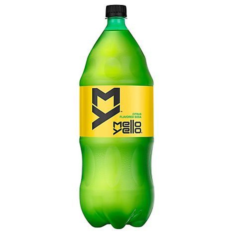 Mello Yello Soda Pop Citrus Flavor -2 Liters