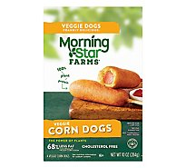 Morningstar Farms Veggie Classics Veggie Corn Dogs Vegetarian (4 Count) 10 oz