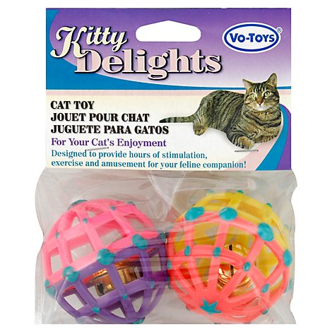 Vo-Toys Cat Toy Balls Jumbo 2 Count - Each
