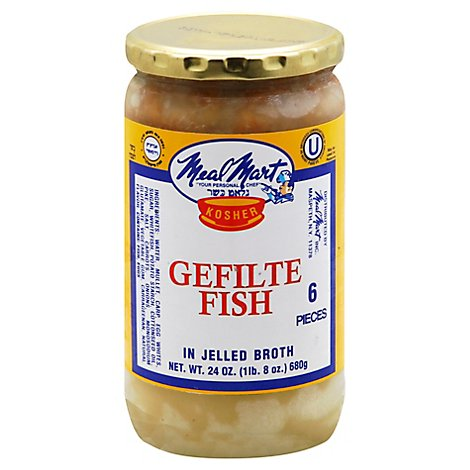 Meal Mart Gefilte Fish In A Jar - 24 Oz