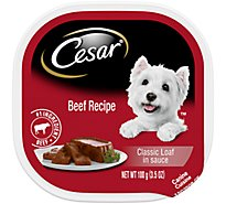 Cesar Classic Loaf In Sauce Dog Food Wet Beef Recipe - 3.5 Oz