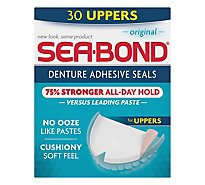 SeaBond Denture Adhesive Wafers Uppers Original - 30 Count