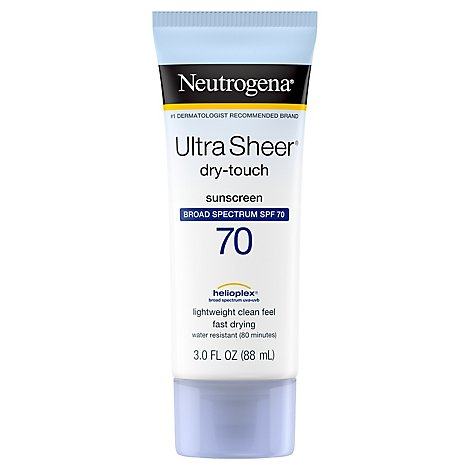 Neutrogena Ultra Sheer Dry Touch SPF 70 Sunblock - 3 Fl. Oz.