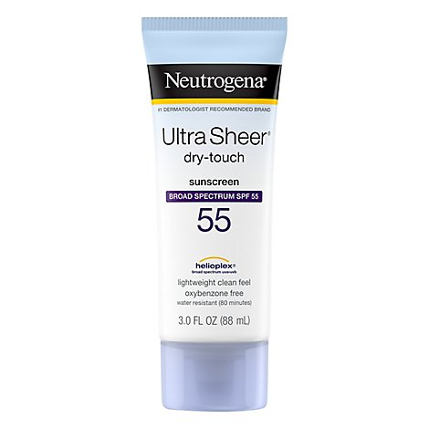 Neutrogena Ultra Sheer Dry Touch Sunblock Lotion SPF 55 - 3 Fl. Oz.