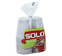 SOLO Cups Plastic Squared 18 Ounce Bag - 30 Count