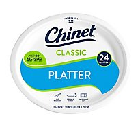 Chinet Platters Classic White - 24 Count