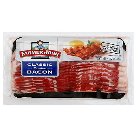 Farmer John Bacon Smoked Sliced - 12 Oz