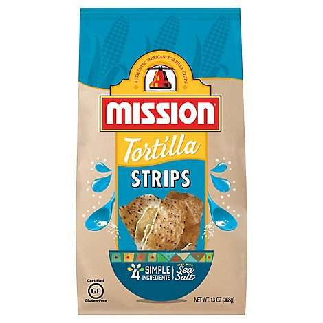 Mission Tortilla Strips Restaurant Style - 13 Oz