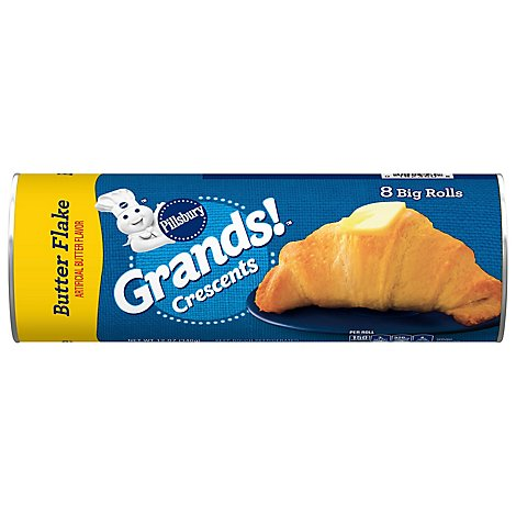 Pillsbury Grands! Crescent Dinner Rolls Big & Buttery 8 Count - 12 Oz