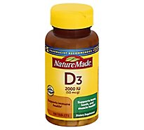 Nature Made Vitamin D Supplement Tablets D3 2000 IU - 100 Count